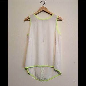 Forever 21 white blouse w neon lining